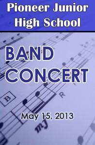 Pioneer Band Con. 5-15-2013